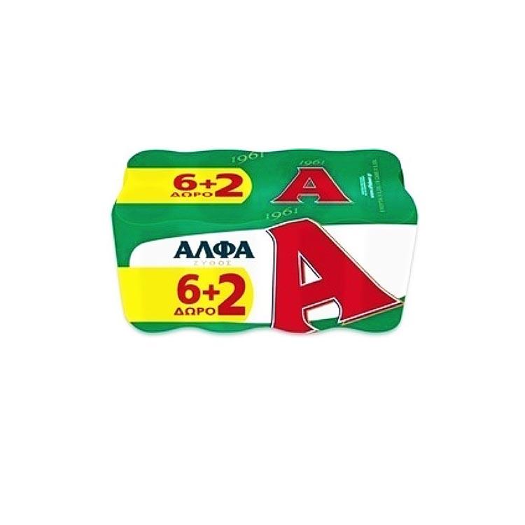 Άλφα 8x330 ml 6+2 Δώρο