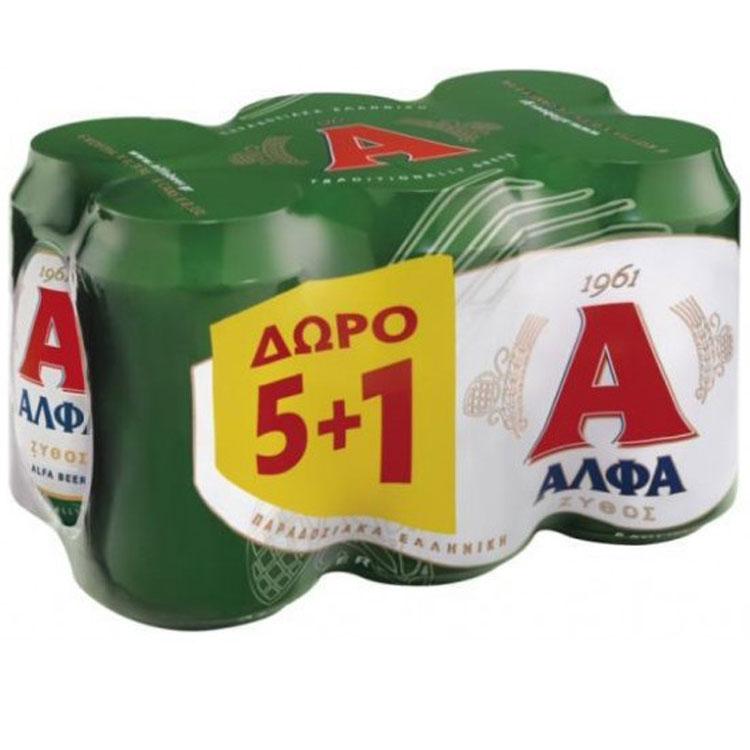 Άλφα 6x330 ml 5+1 Δώρο