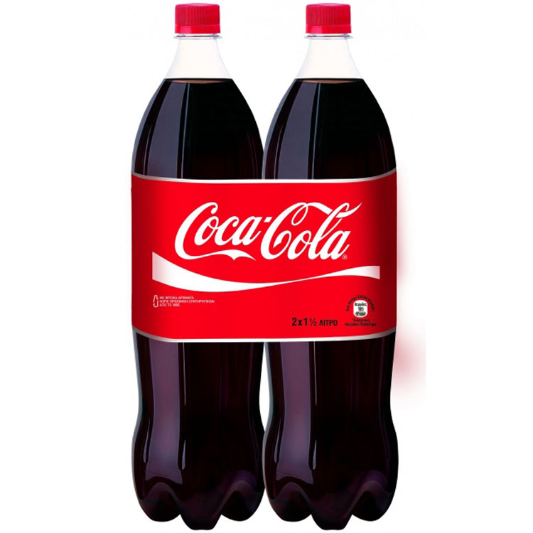 Coca-Cola 1,5lt 2 Tεμάχια 2,35€