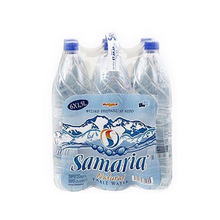 Νερό Σαμαριά 1.5 Lt Pet Συσκευασία 6 φιαλών