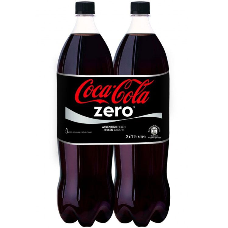 Coca-Cola Zero 1,5lt 2 Tεμάχια 2,35€